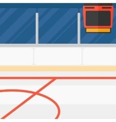Background of hockey stadium vector image
