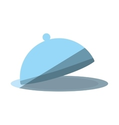 Cartoon dome kitchen food service shadow vector