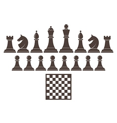 Chess Icon set vector image vector image