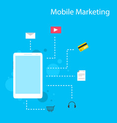 design style mobile marketing collection vector image