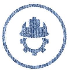 Development helmet fabric textured icon vector