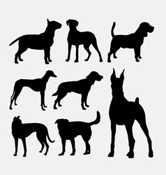 Dog pet animal silhouette 02 vector image vector image