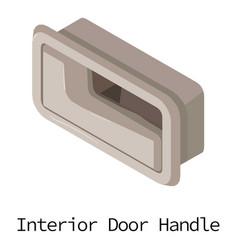 door handle car icon isometric 3d style vector image vector image