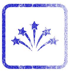 Fireworks burst framed textured icon vector