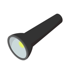 Flashlight cartoon icon vector