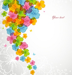 flowers color backgr vector image