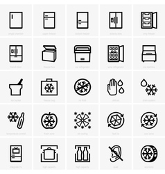 Freezer icons vector