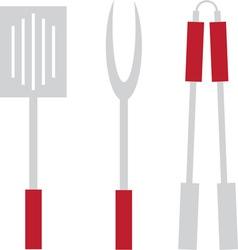 Grill utensils vector