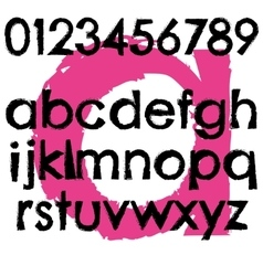Grunge font full alphabet letter lowercase vector