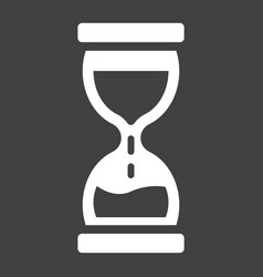 Hourglass solid icon business and deadline vector