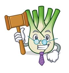 Judge fennel mascot cartoon style vector