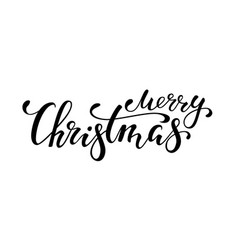 Merry christmas hand drawn creative calligraphy vector