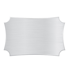 Metal shield decorative steel plate vector