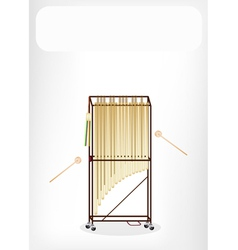 Musical Tubular Bells with A White Banner vector image