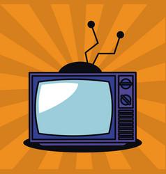 old tv pop art vector image