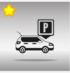 parking black icon button logo symbol vector image vector image