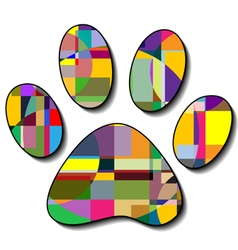 Paw prints colorful vector image