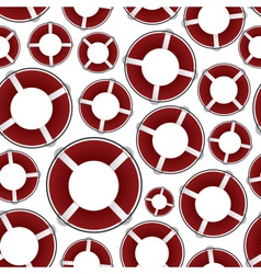 red rescue circle pattern eps10 vector image