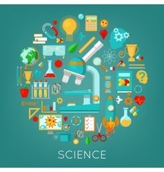 Science Chemistry and Physics Icons Set vector image