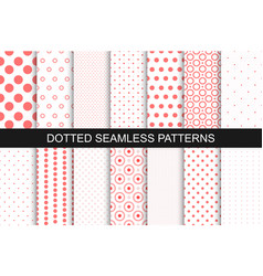 Seamless patterns with circles and dots vector