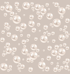 seamless pearl background luxury gray pattern vector image vector image
