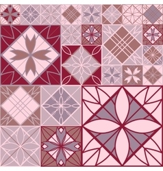 seamless pink patchwork background vector image