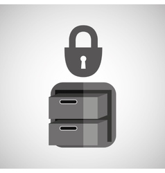 security file cabinet icon design vector image