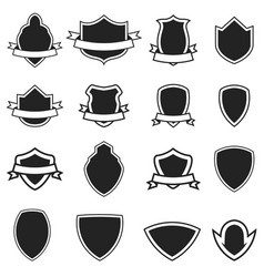 set of the empty emblems templates isolated on vector image
