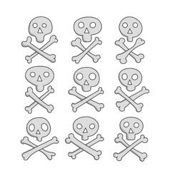 skull and Bones sketch vector image vector image