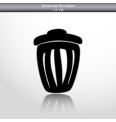 trash can web icon vector image