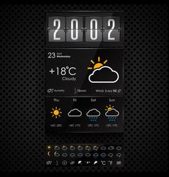 weather widgets template vector image