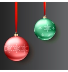 Christmas balls on dark background vector image