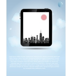 template for smart phone and pad company vector image