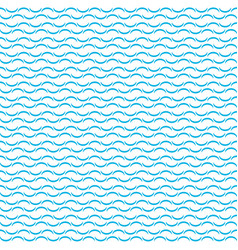 Blue water wavy waves pattern on white background vector