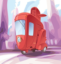 Three-wheeled Retro City Car vector image