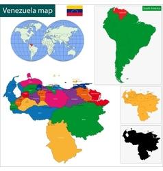 Venezuela map vector image