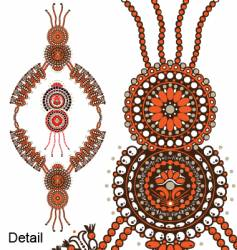 Tribal beads vector