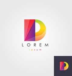Letter d colorful design element vector
