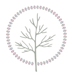 Abstract stylized round art tree vector