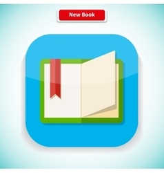 New book app icon flat style design vector