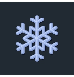 Blue snowflake on dark background vector