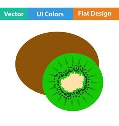 Flat design icon of kiwi vector