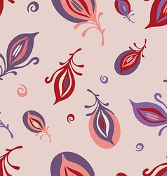 feathers on pink pattern vector image
