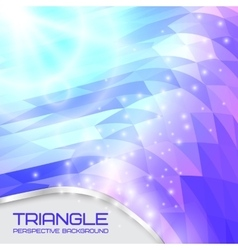 Abstract triangle wave background going to the vector image