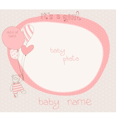 baby shower photo frame vector image vector image