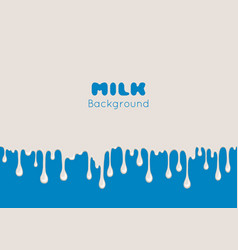 background with flow milk vector image