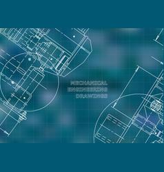 Blueprints mechanics cover mechanical engineering vector