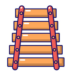 Colorful xylophone icon cartoon style vector