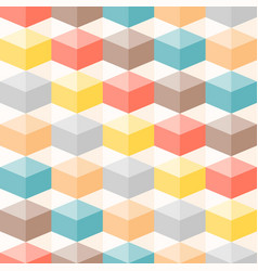colourful geometric 3d box seamless pattern vector image vector image