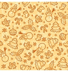 Cookies colors christmas seamless pattern vector